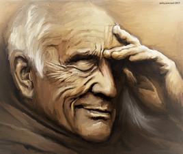 vieil homme ..huile numerique d'apres photo