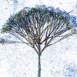 blue pop'art tree