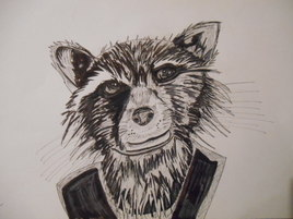 Dessin rocket raccoon
