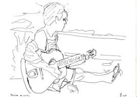 Musicien en savate
