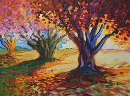 Lumière sous les arbres...ile d'Aix