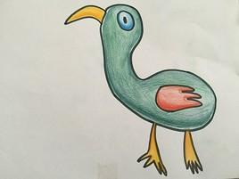 Bizare cet oiseau