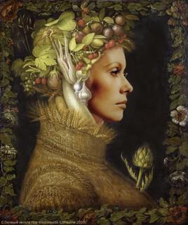 Catherine Deneuve revisite l'Eté d'Arcimboldo ..