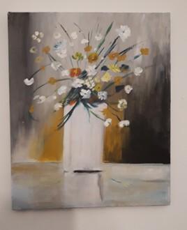 pot fleurs blanc