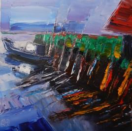 Le port avant la mer.
