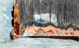 Peinture Old wood and rust