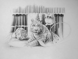 """dessin """"Douceur feline"""" nouveauté hiver 2012"""