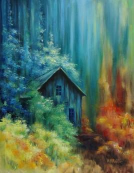 cabane bleue
