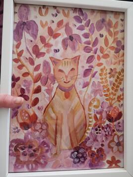 Petit chat dans un jardin