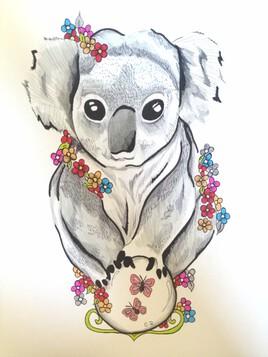 Koala fleurs.
