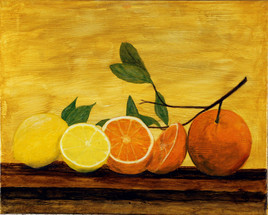 281 - Nature morte oranges et citrons