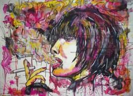 femme qui fume