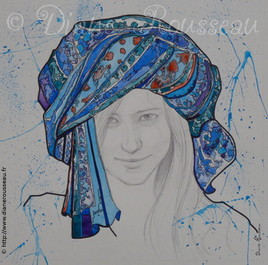 Le turban d'eau bleu