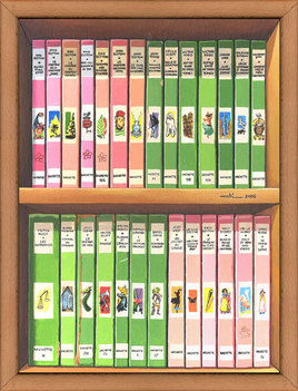 La bibliothèque rose et verte