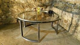 Table basse d'artiste métallier