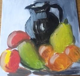 La cruche et les fruits