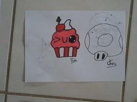 Cupcake kawai  (mignion) et personnage mario