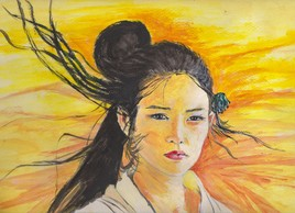 Japonaise au désert