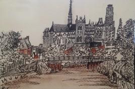 Cathédrale d'Amiens et tour Peret