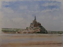 Peinture Le Mont Saint Michel