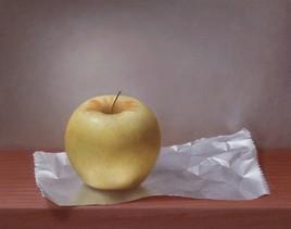 Pomme sur papier aluminium