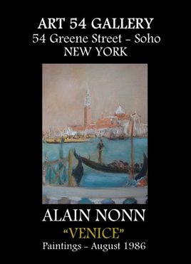 "Affiche ""VENICE"" expo New York"
