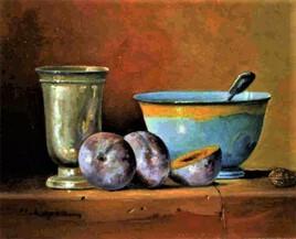 timbale, bol, prunes
