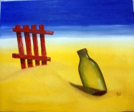 bouteille sur la plage