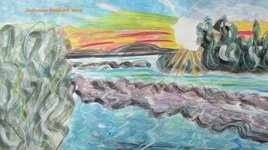 Coucher du soleil sur les Salins des Pesquiers Hyères 83400