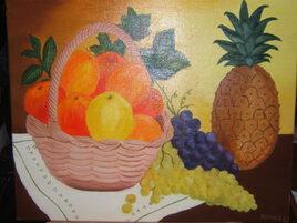 panier de fruits et ananas