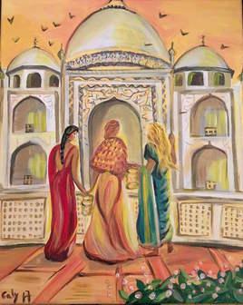 prière au Taj Mahal
