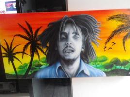 Peinture Bob Marley 2