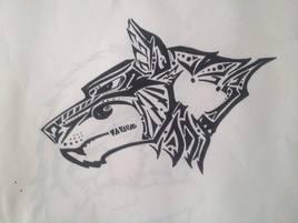 Le loup tribaliser