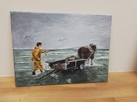 Pêche aux crevettes à cheval à oostduinkerke