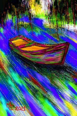 Barque à la dérive