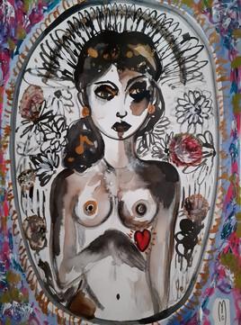 Femme cœur