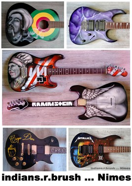 guitar airbrush custom design N4