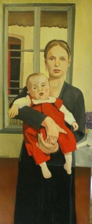 madre e figlio in un interno