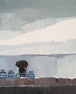 La promenade des anglais à nice sous la pluie