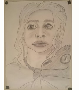 Caricature Daenerys (Game of thrones)