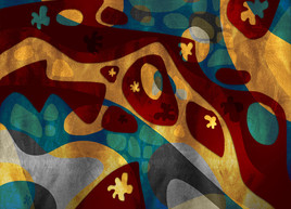 Pixart 45 - Création numérique abstraite sur papier photo