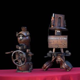 statuettes moules anciens de fonderie en bois
