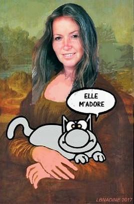 autoportrait Monalisé ..  et clin d'oeil à Geluck :)