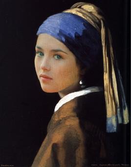 La jeune fille à la perle de Vermeer revisitée avec Isabelle Adjani..
