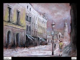 Dessin au pastel Cracovie de 2011 années