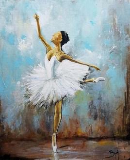 La danseuse n°02 - ©Bruni Eric. Tous droits réservés - Tableau peinture, art figuratif.