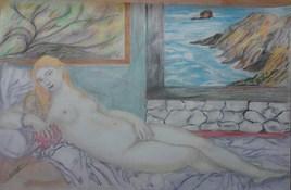 nue  de femme  le repos