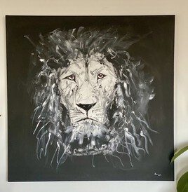 Black & White Lion