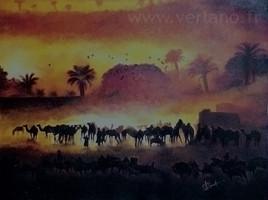 Caravane de sel dans le Ténéré