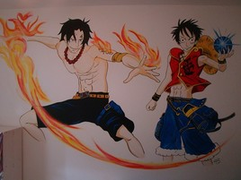 Luffy & Ace - Manga One Piece